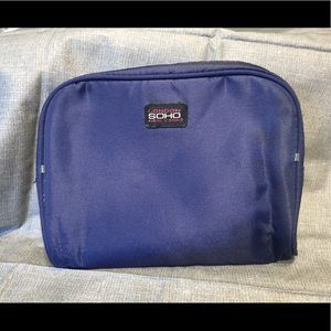 SOHO's Blue Polyester Clutch / Makeup Bag